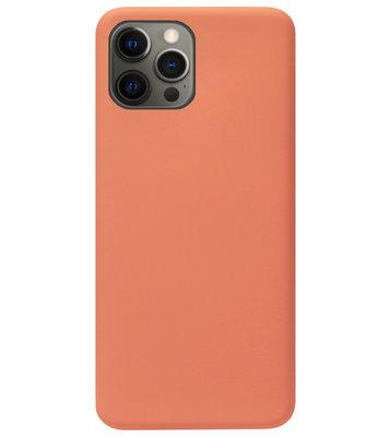 ADEL Premium Siliconen Back Cover Softcase Hoesje voor iPhone 12 (Pro) - Oranje