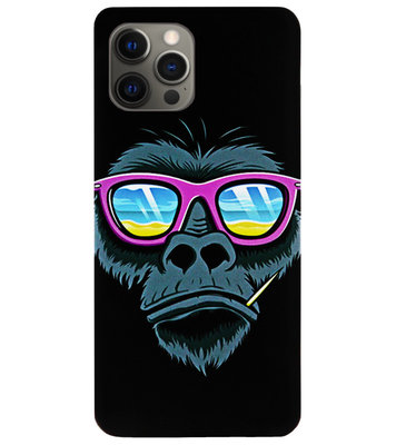 ADEL Siliconen Back Cover Softcase Hoesje voor iPhone 12 (Pro) - Gorilla Apen