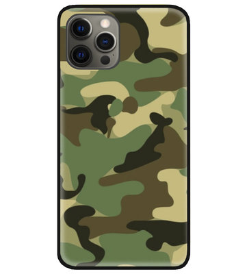 ADEL Siliconen Back Cover Softcase Hoesje voor iPhone 12 (Pro) - Camouflage