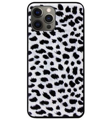 ADEL Siliconen Back Cover Softcase Hoesje voor iPhone 12 (Pro) - Luipaard Wit