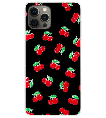 ADEL Siliconen Back Cover Softcase Hoesje voor iPhone 12 (Pro) - Fruit