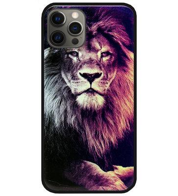 ADEL Siliconen Back Cover Softcase Hoesje voor iPhone 12 (Pro) - Leeuw