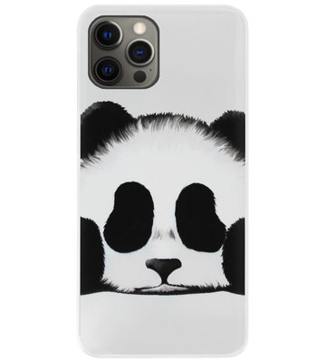 ADEL Siliconen Back Cover Softcase Hoesje voor iPhone 12 (Pro) - Panda