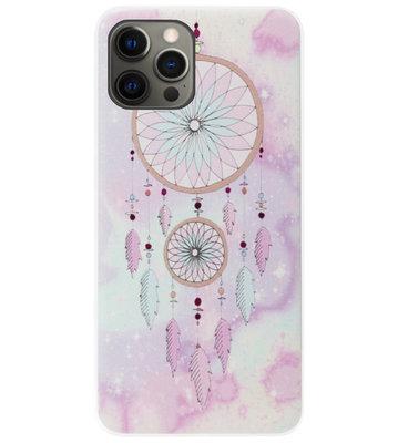 ADEL Siliconen Back Cover Softcase Hoesje voor iPhone 12 (Pro) - Dromenvanger