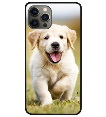 ADEL Siliconen Back Cover Softcase Hoesje voor iPhone 12 (Pro) - Labrador Retriever Hond