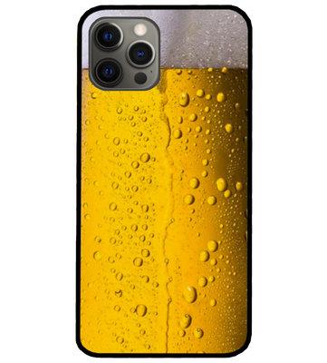 ADEL Siliconen Back Cover Softcase Hoesje voor iPhone 12 (Pro) - Pils Bier