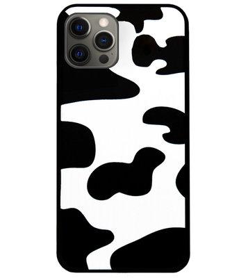 ADEL Siliconen Back Cover Softcase Hoesje voor iPhone 12 (Pro) - Koeienhuid