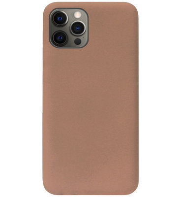 ADEL Siliconen Back Cover Softcase Hoesje voor iPhone 12 (Pro) - Bruin