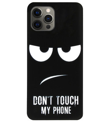 ADEL Siliconen Back Cover Softcase Hoesje voor iPhone 12 (Pro) - Don't Touch My Phone