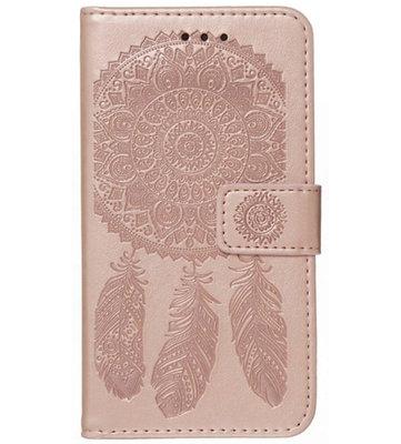 ADEL Kunstleren Book Case Pasjes Portemonnee Hoesje voor iPhone 12 (Pro) - Dromenvanger