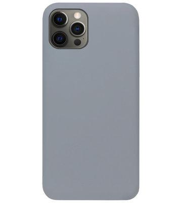 ADEL Siliconen Back Cover Softcase Hoesje voor iPhone 12 (Pro) - Grijs