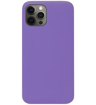 ADEL Siliconen Back Cover Softcase Hoesje voor iPhone 12 (Pro) - Paars