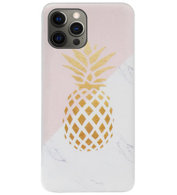 ADEL Siliconen Back Cover Softcase Hoesje voor iPhone 12 (Pro) - Ananas