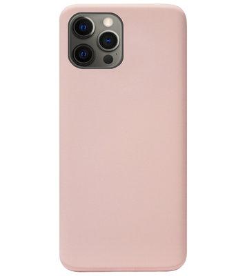 ADEL Premium Siliconen Back Cover Softcase Hoesje voor iPhone 12 (Pro) - Lichtroze
