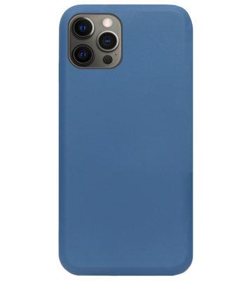 ADEL Premium Siliconen Back Cover Softcase Hoesje voor iPhone 12 (Pro) - Blauw