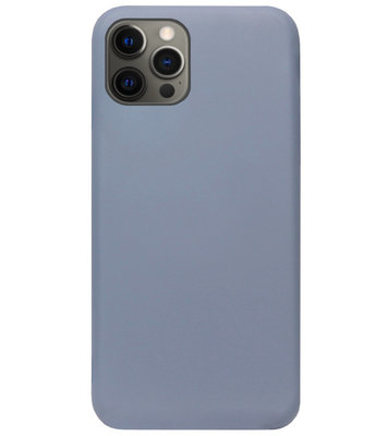 ADEL Premium Siliconen Back Cover Softcase Hoesje voor iPhone 12 (Pro) - Lavendel
