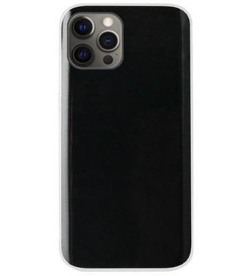 ADEL Siliconen Back Cover Softcase Hoesje voor iPhone 12 (Pro) - Doorzichtig Transparant