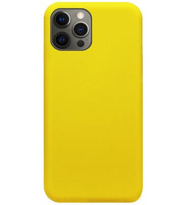 ADEL Siliconen Back Cover Softcase Hoesje voor iPhone 12 (Pro) - Geel
