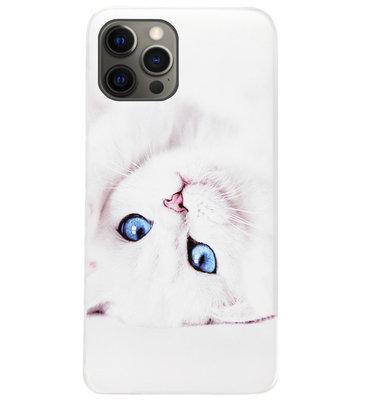 ADEL Siliconen Back Cover Softcase Hoesje voor iPhone 12 (Pro) - Katten