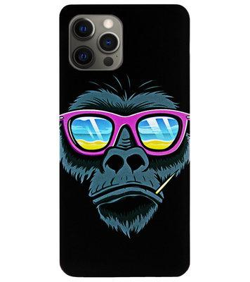 ADEL Siliconen Back Cover Softcase Hoesje voor iPhone 12 Pro Max - Gorilla Apen