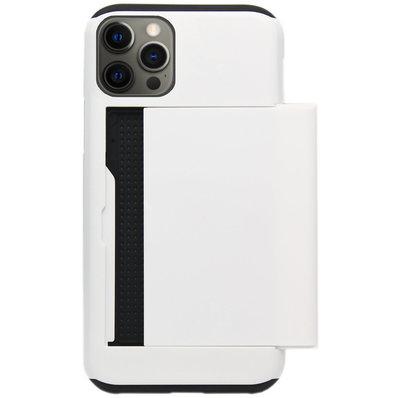 ADEL Kunststof Back Cover Hardcase Hoesje voor iPhone 12 Pro Max - Pasjeshouder Wit