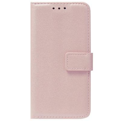 ADEL Kunstleren Book Case Pasjes Portemonnee Hoesje voor iPhone 12 Pro Max - Goud Rose