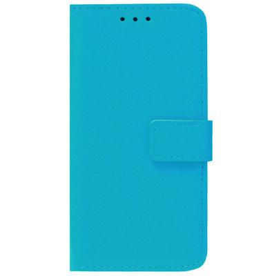 ADEL Kunstleren Book Case Pasjes Portemonnee Hoesje voor iPhone 12 Pro Max - Blauw