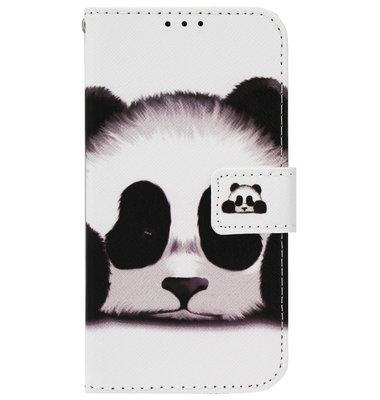 ADEL Kunstleren Book Case Pasjes Portemonnee Hoesje voor iPhone 12 Pro Max - Panda