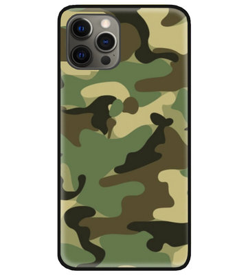 ADEL Siliconen Back Cover Softcase Hoesje voor iPhone 12 Pro Max - Camouflage