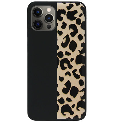 ADEL Siliconen Back Cover Softcase Hoesje voor iPhone 12 Pro Max - Luipaard Bruin
