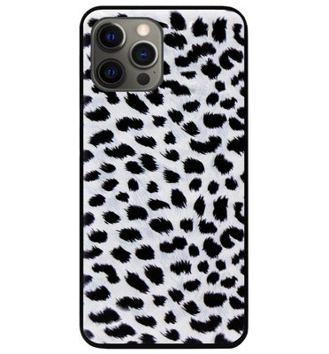 ADEL Siliconen Back Cover Softcase Hoesje voor iPhone 12 Pro Max - Luipaard Wit