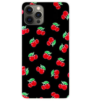 ADEL Siliconen Back Cover Softcase Hoesje voor iPhone 12 Pro Max - Fruit