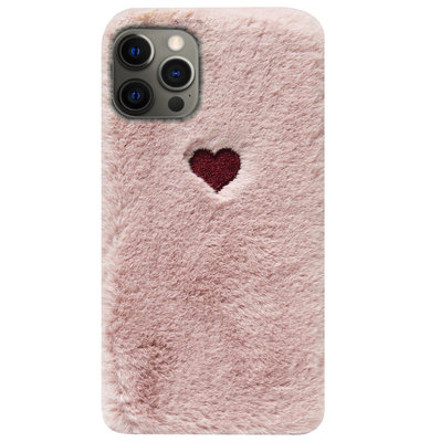 ADEL Siliconen Back Cover Softcase Hoesje voor iPhone 12 Pro Max - Hartjes Roze