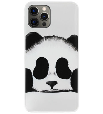 ADEL Siliconen Back Cover Softcase Hoesje voor iPhone 12 Pro Max - Panda