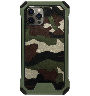 ADEL Kunststof Bumper Case Hoesje voor iPhone 12 Pro Max - Camouflage Groen