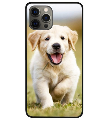 ADEL Siliconen Back Cover Softcase Hoesje voor iPhone 12 Pro Max - Labrador Retriever Hond