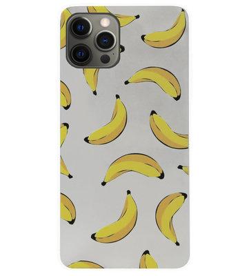 ADEL Siliconen Back Cover Softcase Hoesje voor iPhone 12 Pro Max - Bananen Geel