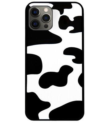 ADEL Siliconen Back Cover Softcase Hoesje voor iPhone 12 Pro Max - Koeienhuid