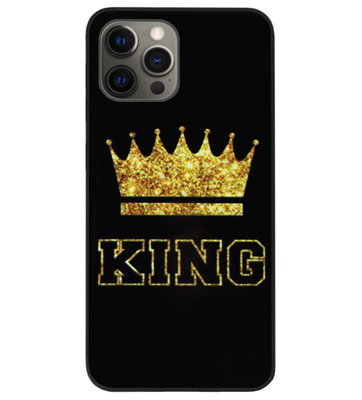 ADEL Siliconen Back Cover Softcase Hoesje voor iPhone 12 Pro Max - King Koning