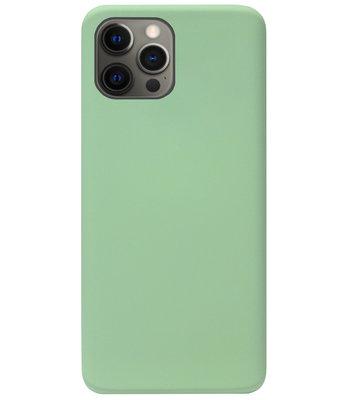 ADEL Premium Siliconen Back Cover Softcase Hoesje voor iPhone 12 Pro Max - Lichtgroen