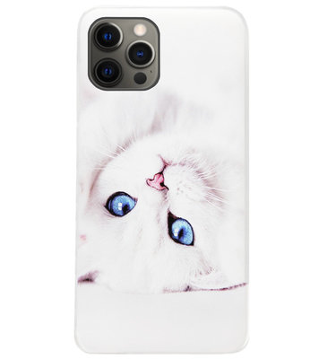 ADEL Siliconen Back Cover Softcase Hoesje voor iPhone 12 Pro Max - Katten