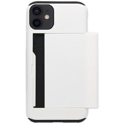 ADEL Kunststof Back Cover Hardcase Hoesje voor iPhone 12 Mini - Pasjeshouder Wit