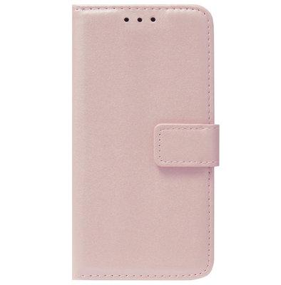ADEL Kunstleren Book Case Pasjes Portemonnee Hoesje voor iPhone 12 Mini - Goud Rose