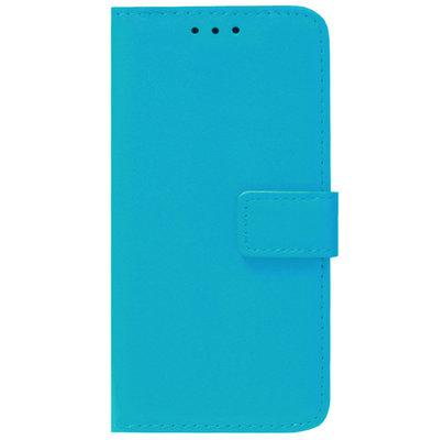 ADEL Kunstleren Book Case Pasjes Portemonnee Hoesje voor iPhone 12 Mini - Blauw