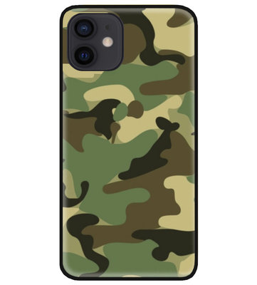 ADEL Siliconen Back Cover Softcase Hoesje voor iPhone 12 Mini - Camouflage