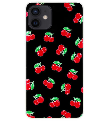 ADEL Siliconen Back Cover Softcase Hoesje voor iPhone 12 Mini - Fruit