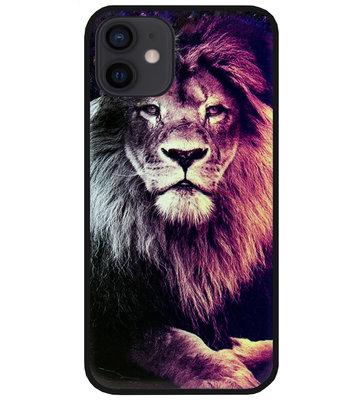 ADEL Siliconen Back Cover Softcase Hoesje voor iPhone 12 Mini - Leeuw