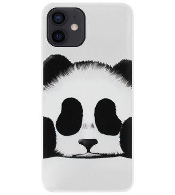 ADEL Siliconen Back Cover Softcase Hoesje voor iPhone 12 Mini - Panda