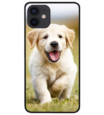 ADEL Siliconen Back Cover Softcase Hoesje voor iPhone 12 Mini - Labrador Retriever Hond