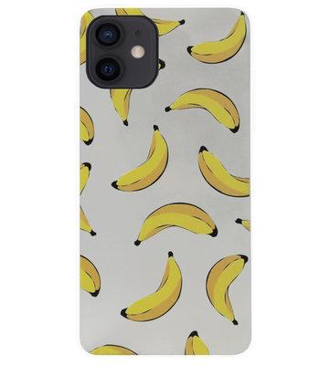 ADEL Siliconen Back Cover Softcase Hoesje voor iPhone 12 Mini - Bananen Geel